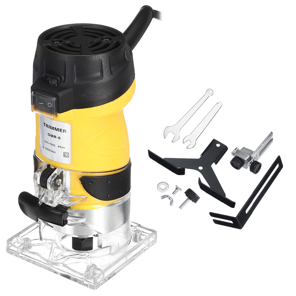 Cortador de mano eléctrico de 2200 W, enrutador de madera, laminador de madera de 6,35mm, equipo de herramientas eléctricas para cortar carpintería - 2