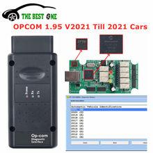 Profissão 200603a 2021 opcom 1.95 pic18f458 ftdi ft232rq chip para opel varredor diagnóstico do carro OP-COM v2021 para carros até 2021