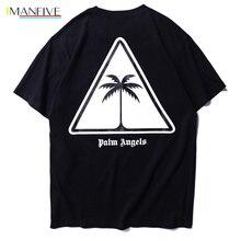 Palm Angels T-shirts Men Hip-Hop T Shirt T-shirt Top Tee Short  Hip Hop Cotton