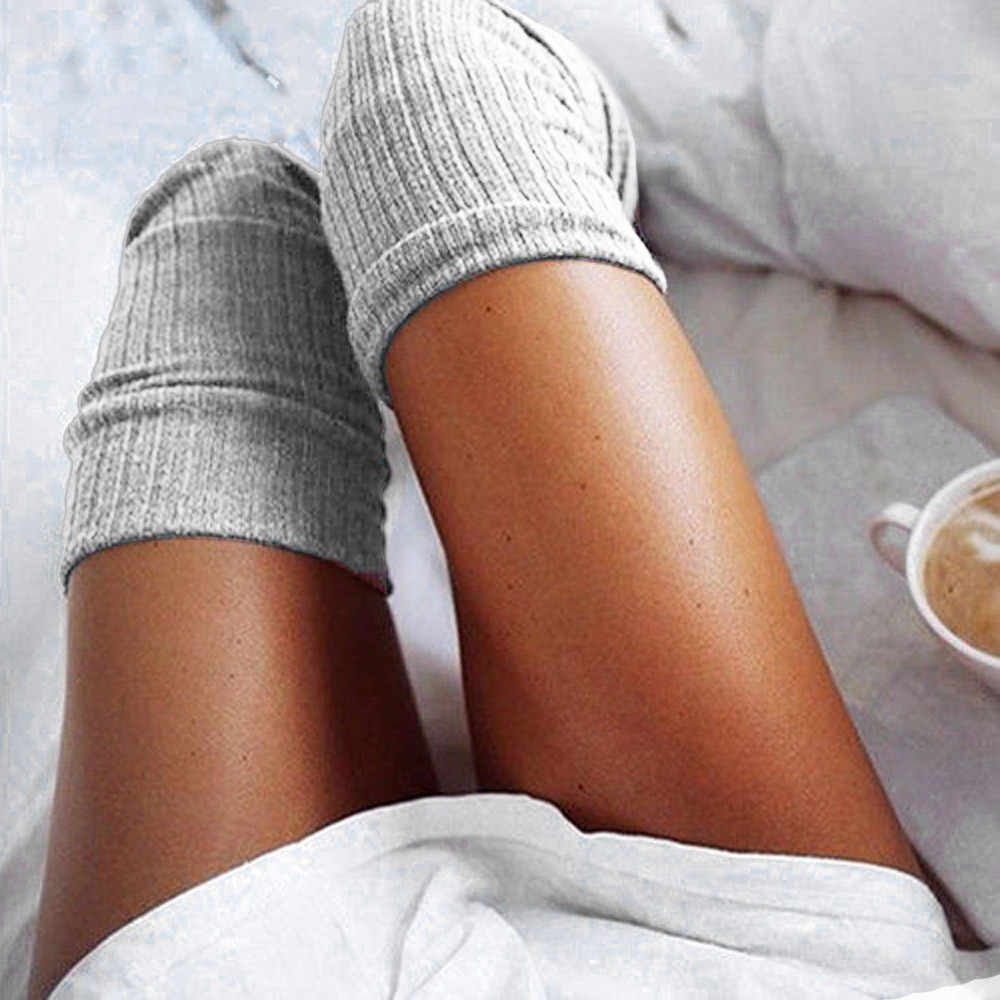 جديد الجوارب موضة جوارب عادية القطن الفخذ العليا فوق الركبة الفخذ العليا فوق جوارب طويلة جوارب القطن طويل دافئ