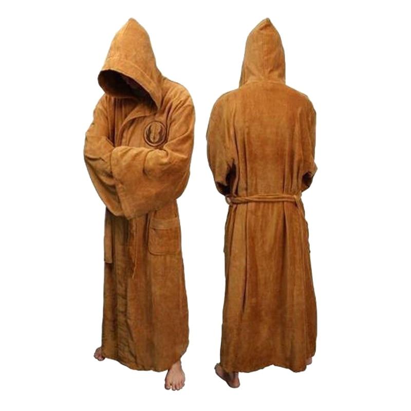 Mens Bath Robe Pajamas Star Wars Gown Jedi Empire Cosplay Costume Adult Flannel Sleepwear Men's Bathrobe Winter Robe E45763AD