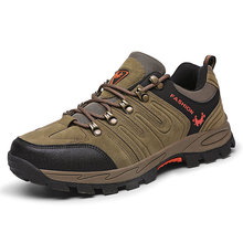 цена Outdoors Hiking Shoes Spring Autumn Men Casual Shoes New Arrival Ventilation Fashion Sneakers Tourism Mens Shoes Size 39-46 онлайн в 2017 году