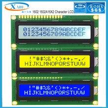 Xabl 1602 1602a 16x2 personagem lcd módulo lcm cor azul branco amarelo tela tomada de fábrica tamanho personalizado
