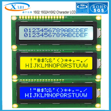 XABL 1602 1602A 16X2 Character LCD Module LCM Color Blue White Yellow  Screen Factory Outlet Custom Size