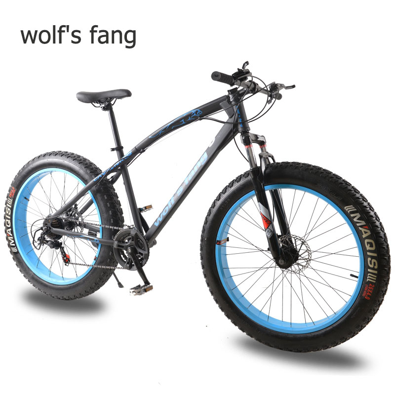 wolf's fang Bicycle Bike Mountain bike Road bikes Fat bike 7/21 speed <font><b>26</b></font> inch mtb Snow bicycle full mens <font><b>bmx</b></font> Bikes free shipping image