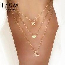 17 км богемное ожерелье с золотой звездой для женщин сердце цветок колье ожерелье этнический многослойный женский модный ювелирный