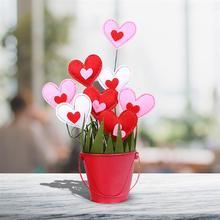 DIY украшения цветочного горшка Мягкий войлок весенние цветочные аппликации, ремесло свадебное Изготовление поделок своими руками