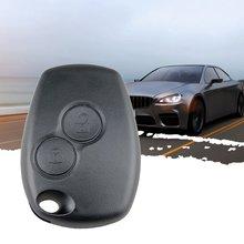 Чехол дистанционного брелока для автомобильных ключей с 2 кнопками, пустой чехол-брелок для Renault Dacia Modus Clio 3 Twingo Kangoo 2, без логотипа
