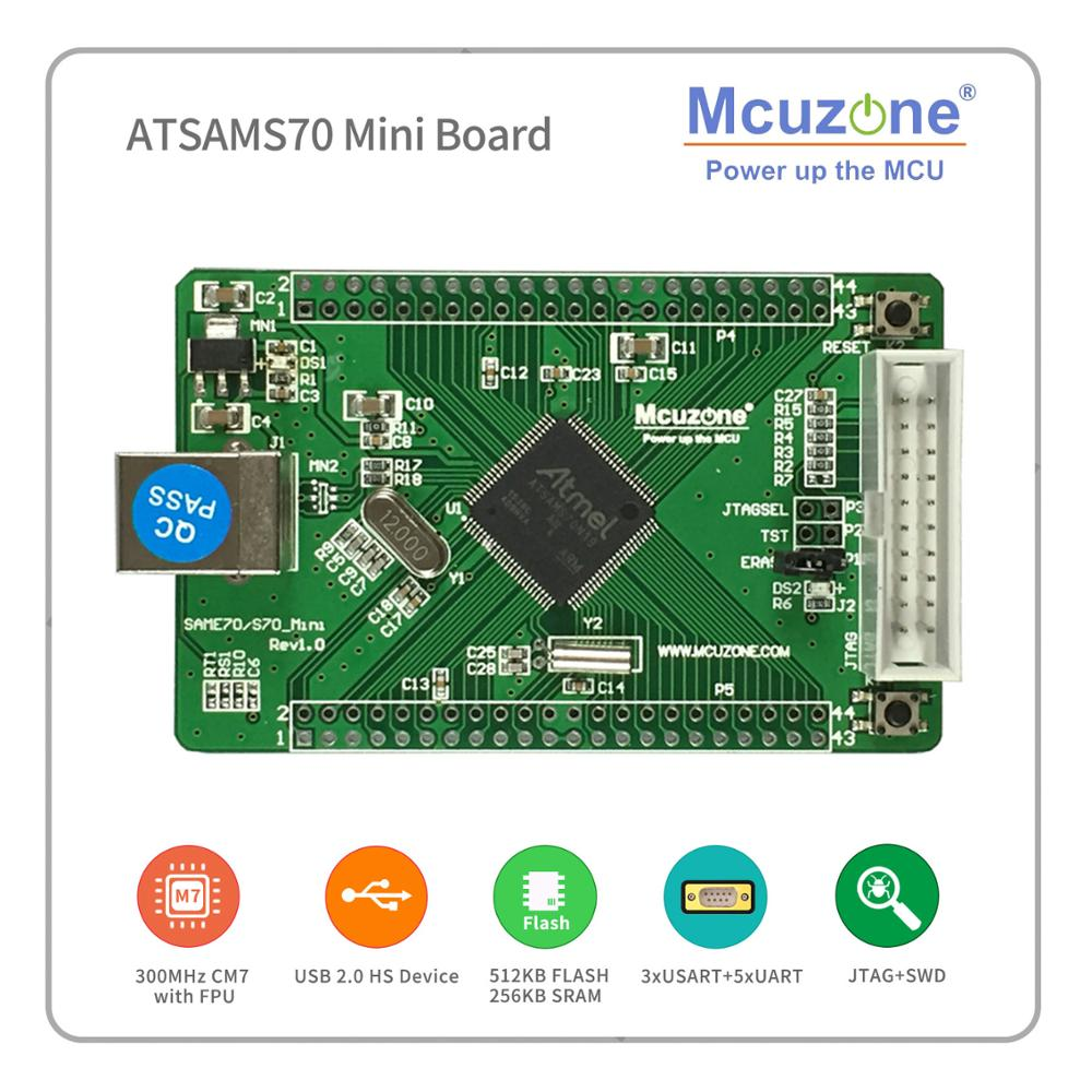 Sams70, ATSAMS70n19 Mini Board, 300MHz Cortex-M7, USB 2.0 Highspeed Device  512 Flash 256 Sdram