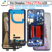 מקורי LCD עבור OnePlus 7 Pro LCD תצוגת מסך מגע Digitizer עצרת החלפה עבור OnePlus 7t Pro LCD