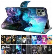 Funda de cuero con tapa para Huawei Honor 10 Lite Honor 20 Lite 20 Pro, funda para libro, caja para teléfono, rosa, Tigre, Lobo, León, gato, perro, DP08F