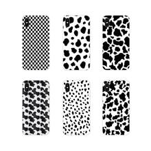 Accesorios carcasa de teléfono cubre el símbolo de la vaca negra blanca para Samsung A10 A30 A40 A50 A60 A70 Galaxy S2 Note 2 3 grandes Core Prime