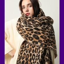 디자인 겨울 두꺼운 스카프 여성용 담요 술 숙녀 shawls 및 포장 동물 표범 인쇄 캐시미어 스카프 pashmina foulard