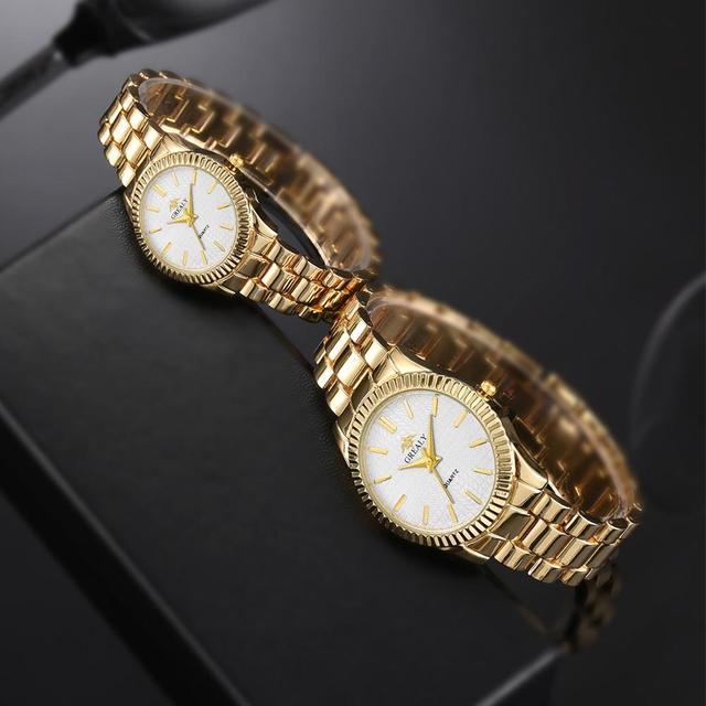 Couple Mens Women Watches Top Brand Luxury Quartz Ladies Wristwatch 5