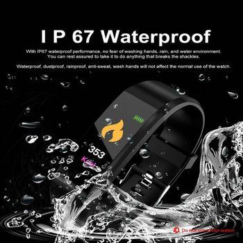 Sportowa bransoletka Bluetooth inteligentne wykrywanie tętna tlenu we krwi elektroniczna tix ciśnienie krwi wodoodporna bransoletka tanie i dobre opinie Brak Zgodna ze wszystkimi RUBBER NONE Chińskie Dożywotnio wodoodporne CN (pochodzenie) Dla osób dorosłych W kształcie prostokąta kwadratu