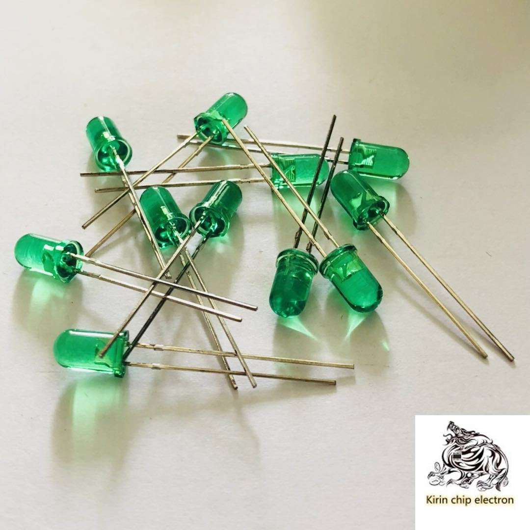 1000PCS/LOT In-line LED 5MM Led Green F5mm Green Led Lamp