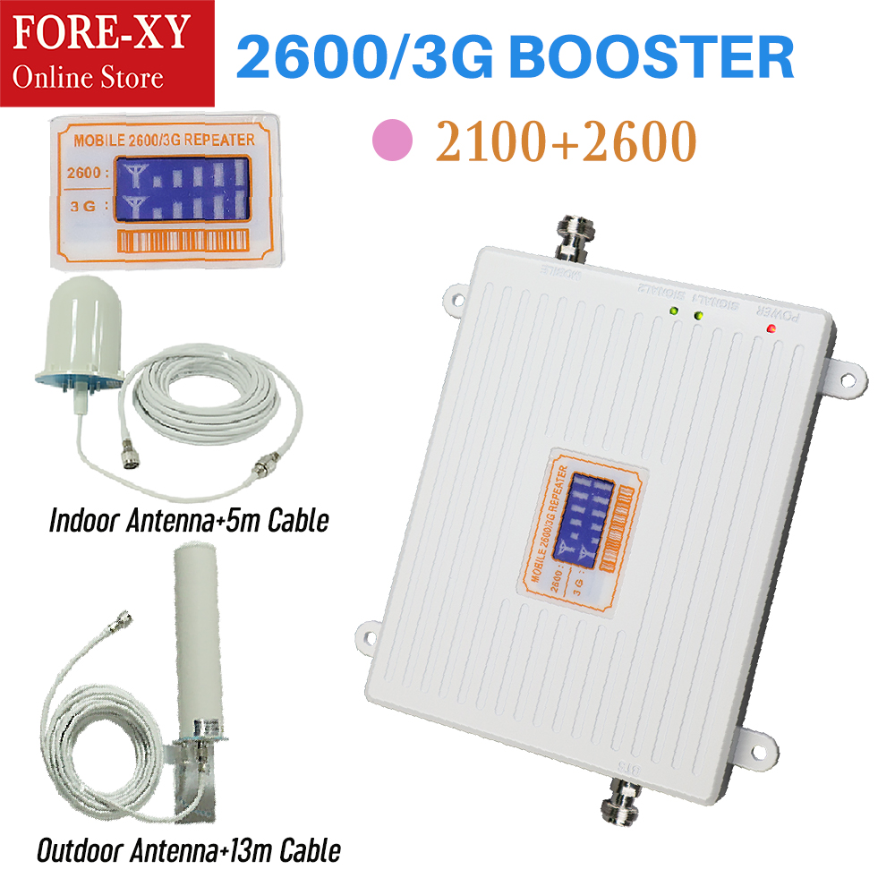 ZQTMAX 3G 4G Dual Band 2100 2600 мобильного телефона LTE Сотовая связь Усилитель сигнала Усилитель UMTS для дома verizon сотовом телефоне через Интернет