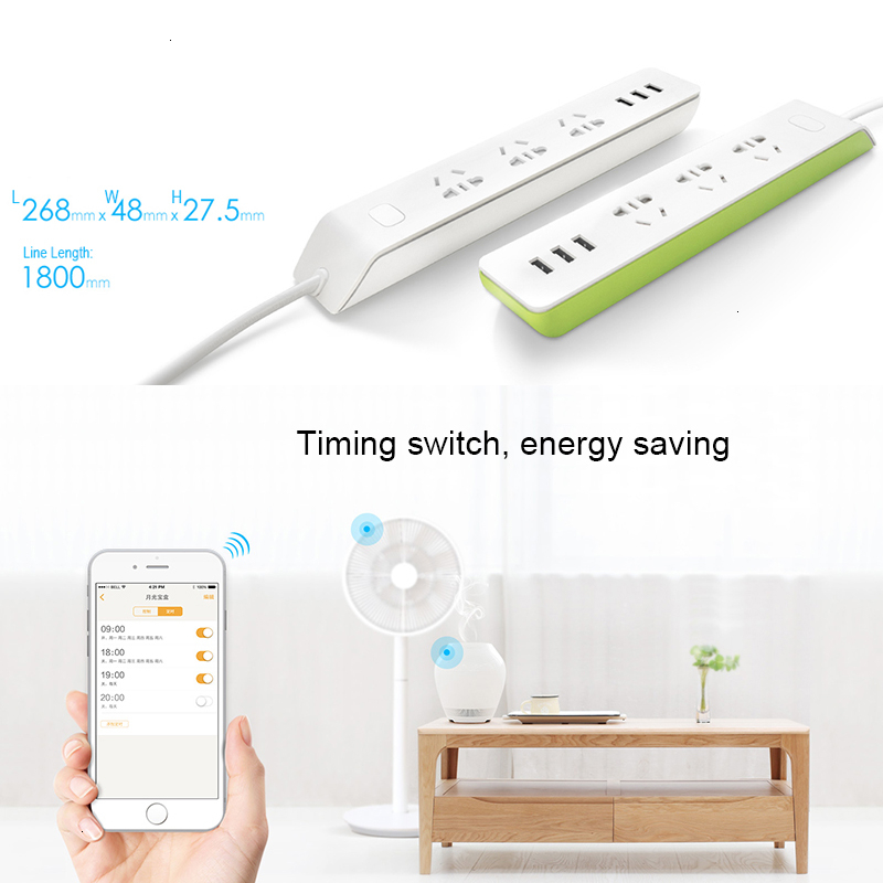 Broadlink <font><b>Socket</b></font> Plug <font><b>Remote</b></font> Control By App Switch Smart Home System Power Strip Wifi Wirele Connect MP1 MP2 WiFi <font><b>Socket</b></font> image
