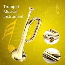 Professional Child Kids Golden Trumpet Horn Musical Instrument Military School Beginner Gift Brass Instruments