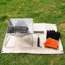 Grill Feuer Decke Glas Faser Isolierung Matte Im Freien Camping Feuer Tuch Hohe Temperatur Anti-Verbrühen Flammschutzmittel