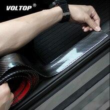 3/5/7/10 سنتيمتر X 2.5 متر ملصقات السيارات 5D ألياف الكربون المطاط التصميم عتبة الباب حامي السلع لكيا تويوتا BMW أودي مازدا فورد هيونداي