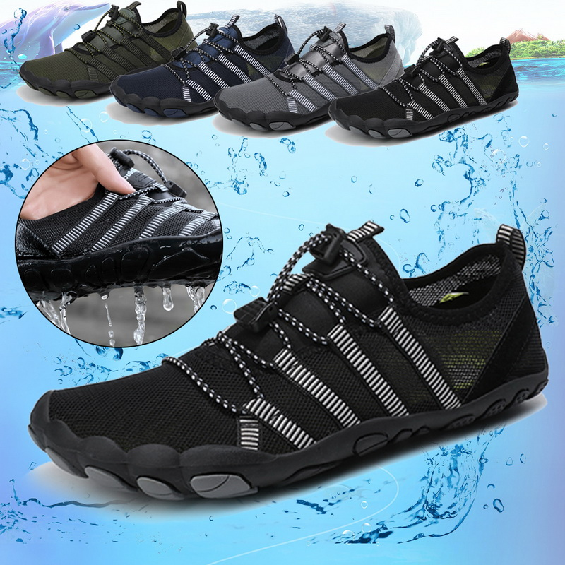 2020 Upstream Shoes Men Barefoot Diving Swimming Water Shoes Outdoor Sports Breathable Beach Wading Shoes Aqua Seaside Sneakers