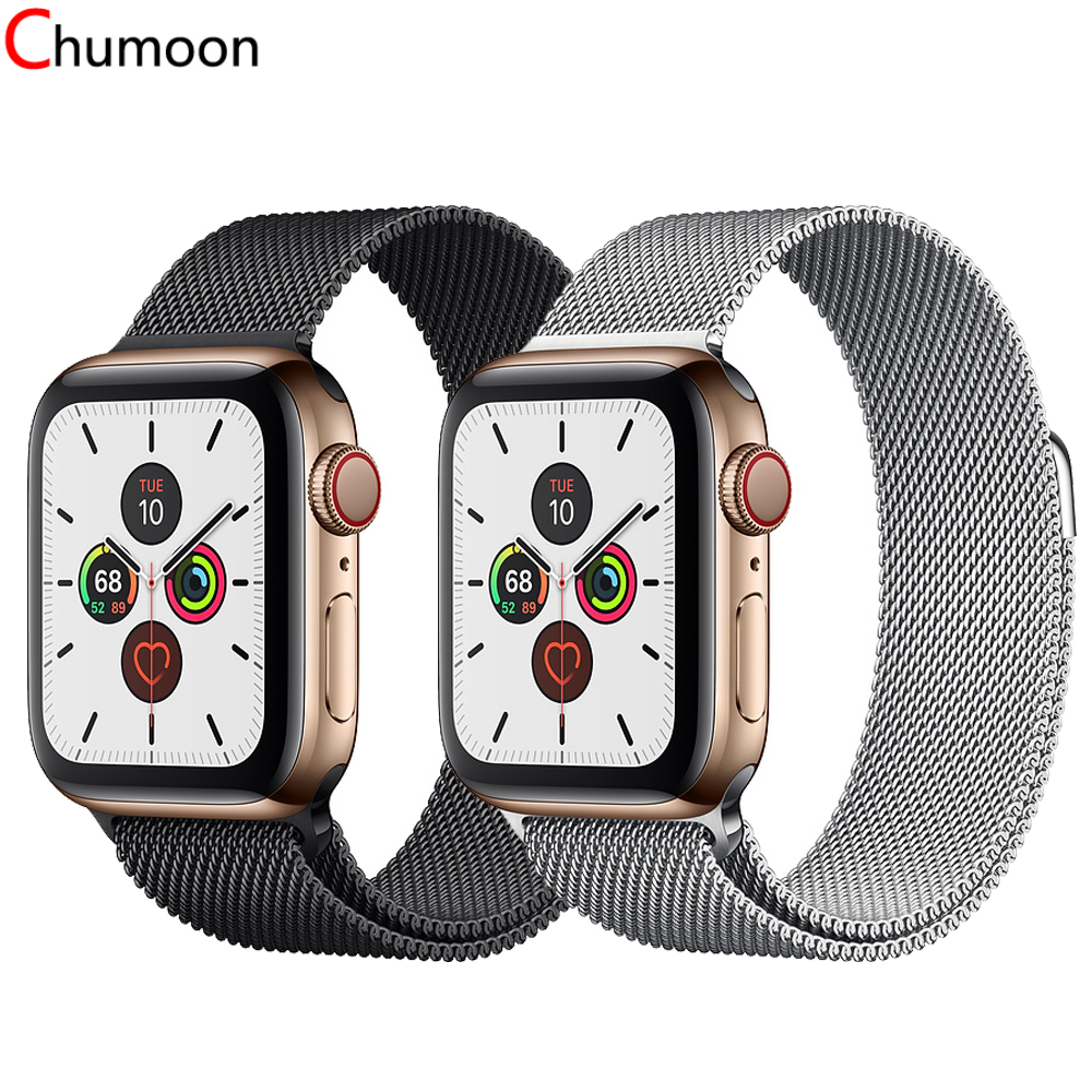 Milanese Loop Strap For Apple Watch Band 44 Mm 40mm Milanese Iwatch Band 42mm 38mm Metal Bracelet Watchband Apple Watch 5 4 3 2