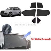 6 pces high end personalizado para audi q3 2011 18 tipo de cartão magnético carro cortina sol sombra janela do carro sombra|  -