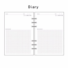 A5/A6/A7 Diary Insert Refill Replace Schedule Organiser 45 Sheets Note Paper Plan a5 a6 b5 personal sticky notes assorted diary insert refill organiser sticker
