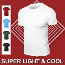 FANNAI Running T Shirt Men Breathable Sports Training Quick Drying Elastic Exercise Fitness Gym Short Sleeve Super Light