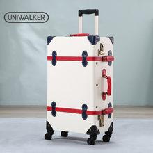 Bolsa de viaje de equipaje de mano para chico, estuche de traje de diseñador rodante, Maleta Vintage para niños, conjunto de chico maleta Retro