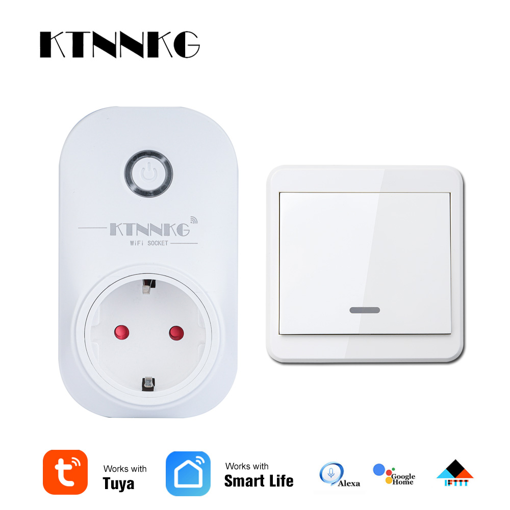 Smart Life TUYA EU Soket Also Can Use Wall Remote Control Work With Poland Korea Plug Alexa Google Home Mini IFTTT