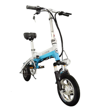 New Electric Bike 36V Two Wheels Bicycle Front/Rear Brake System White/Blue/Black Adult Folding Scooter