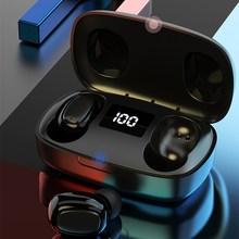 T10S TWS Bluetooth наушники 5,0 беспроводные наушники-вкладыши контактные стерео с цифровым дисплеем питания