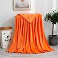 Lannidaa оранжевое однотонное одеяло из кораллового флиса для малышей  детей и взрослых  мягкое одеяло из микрофибры  диван  простыня  покрывало...