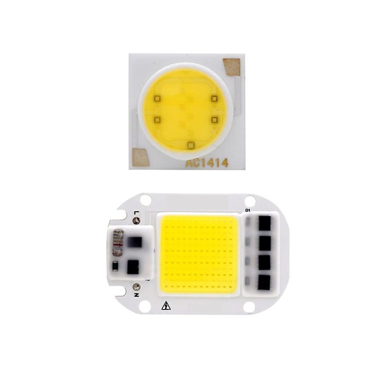 LED COB Chip 20W 30W 50W 3W 5W 7W 9W 12W 15W 18W 220V Smart IC Light High Lumen Chip For DIY LED Floodlight Light Bead