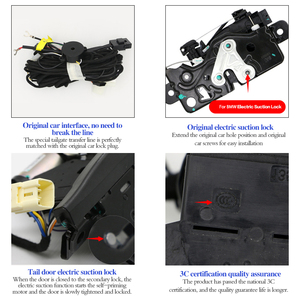 Image 2 - Portão traseiro elétrico reacoplado, para bmw f10 f11 5 séries caixa traseira inteligente porta elétrica porta operada tronco decoração