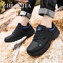 Marka erkek rahat siyah ayakkabı kar botları deri Sneakers sıcak erkek botları açık yürüyüş botları adam iş ayakkabısı boyutu 36-47