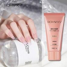 Rohwxy poli prego gel para manicure ferramentas de cristal polonês gel para extensão do prego uv verniz construção para unhas arte design pintura