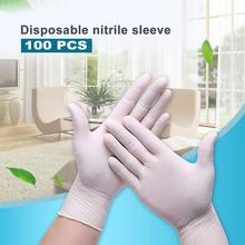 100 Disposable Gloves White Nitrile Gloves Household Cleaning Gloves Food Laboratory Cleaning Durable Gloves