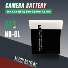 Novo 3.6v 740mah NB-8L nb8l nb 8l baterias recarregáveis de lítio para canon powershot a3300 a3200 é a1200 a3000 câmera bateria