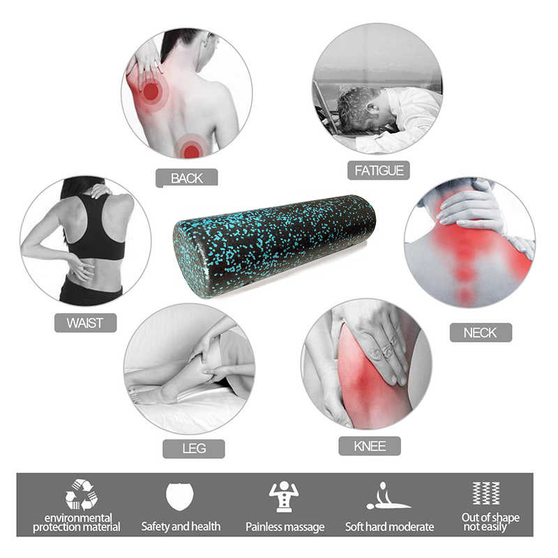 45 Cm Fitness Yoga Massage Roller Epp Hoge Dichtheid Oefening Foam Roller Yoga Blok Voor Fysiotherapie, deep Tissue Spier Relex