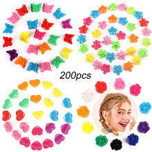 Hair Accessories Butterfly Clips Small Clips,  200 Pieces Mini with Petal Flower Heart Shape Claw