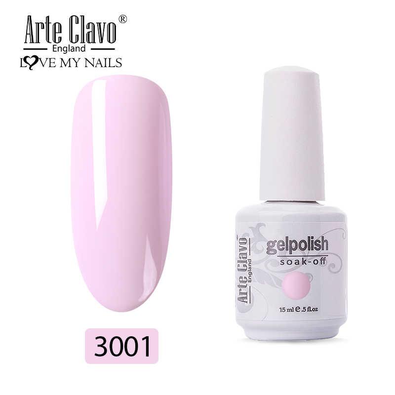 Arte Clavo jel vernik Shinning çıplak pembe renk manikür yarı kalıcı hibrid UV jel oje pul jel cila 8ml