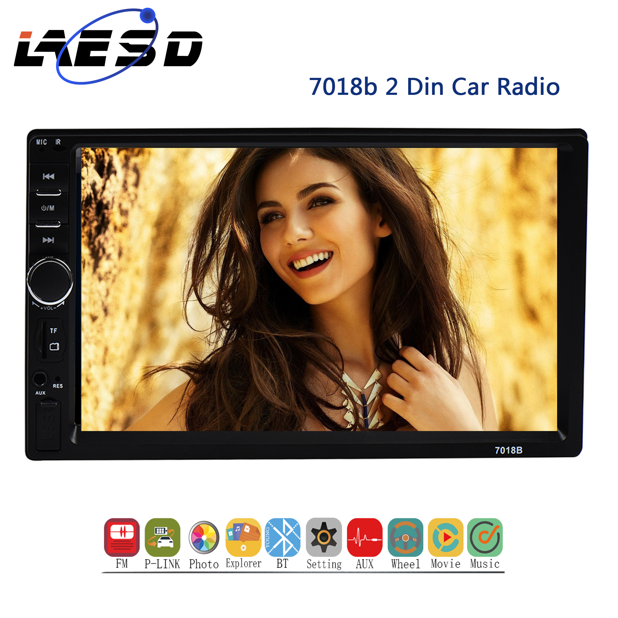 2Din Car <font><b>MP5</b></font> Player <font><b>7018b</b></font> Auto Radio 7'' HD Touch Screen 1080P FM AM TF USB Wince Sys Digital Stereo 2 din <font><b>MP5</b></font> Aotomotivo Video image