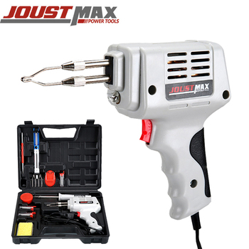 JOSTMAX Multi-Function Welding Gun Fixed Double Tube Soldering Iron Head Heating Soldering Iron Welding Tool Tools Mini Rapid internal heating soldering iron welding head iron tip long service life cycle durable welding angle tip