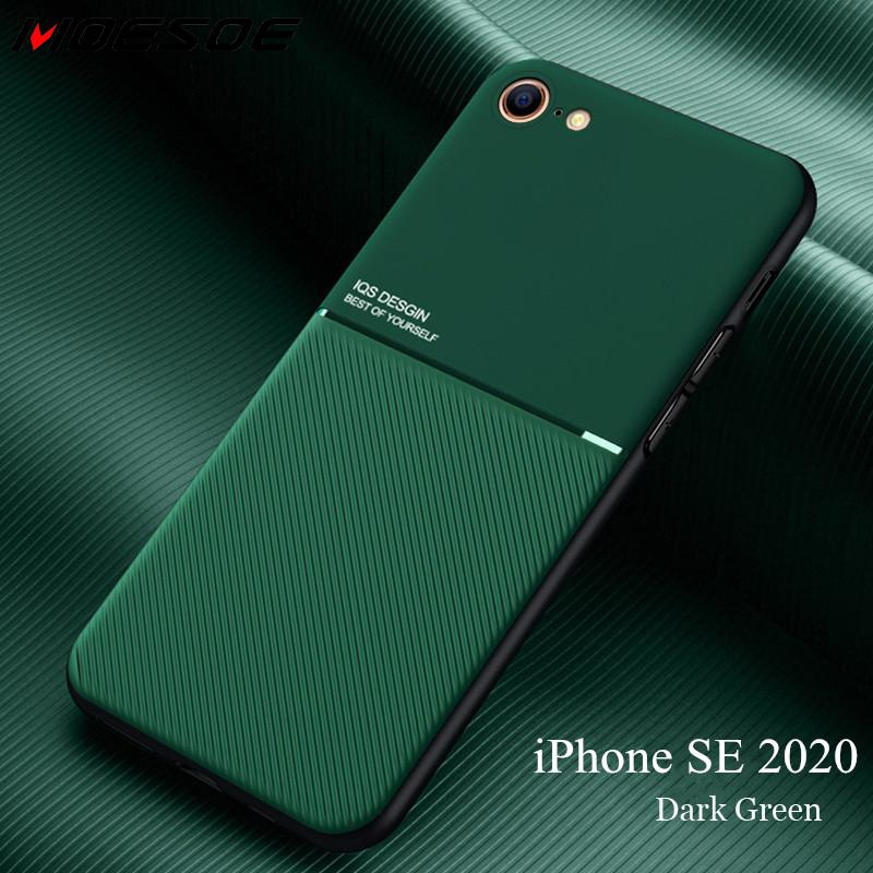 For iPhone SE 2020 Case Slim Leather Texture Slim Matte Protective Phone Cove Cases For iPhone 11 Pro Max XR X XS 7 8 Plus Coque