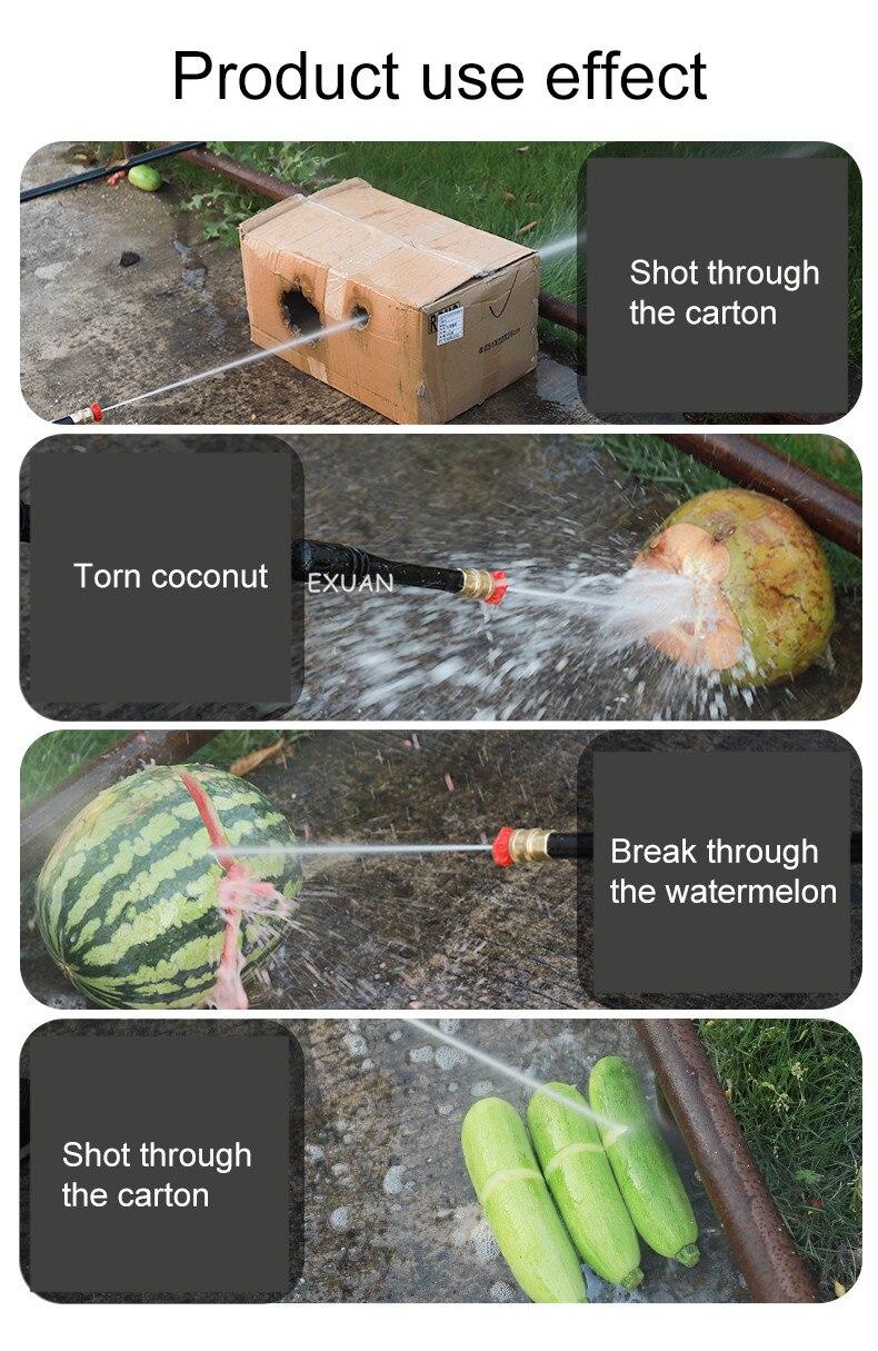 pistola água pequena limpeza automática portátil bomba água