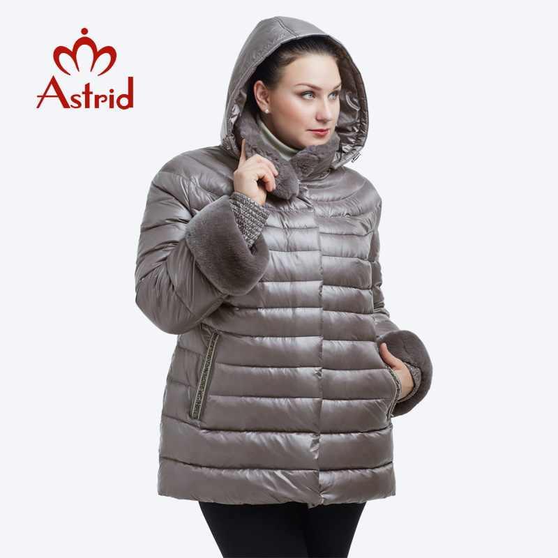 2019 Astrid ใหม่ฤดูใบไม้ร่วง Parka ผู้หญิงฤดูหนาวเสื้ออบอุ่น Outwear บางแจ็คเก็ตฝ้ายเบาะ Coats คุณภาพสูง FR-2036