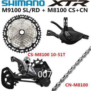 Image 3 - Shimano Deore Xtr M9100 Groepset Mountainbike 1x12 Speed Rd Sl Cs Cn M9100 Achterderailleur Xtr Shift Cassette 10 45T 10 51T